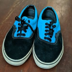 Black and Turquoise Vans